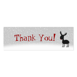 Cartões de agradecimentos dos tinir cartão de visita skinny