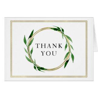 Cartões de agradecimentos dourados do casamento da