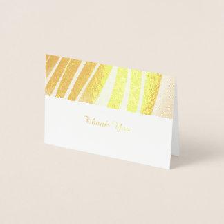 Cartões de agradecimentos dourados do teste padrão