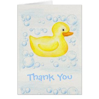 Cartões de agradecimentos Ducky de borracha