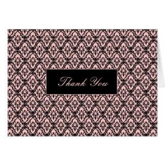 Cartões de agradecimentos - elegância no rosa