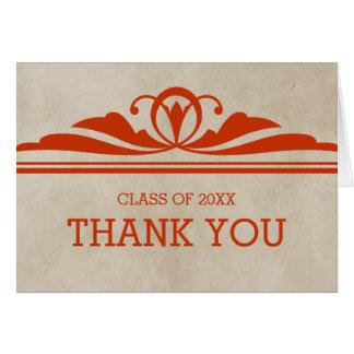 Cartões de agradecimentos elegantes alaranjados da