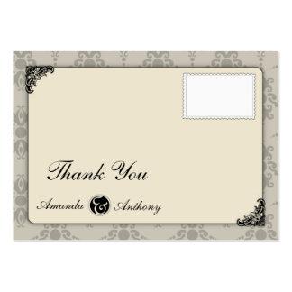 Cartões de agradecimentos elegantes cartão de visita grande
