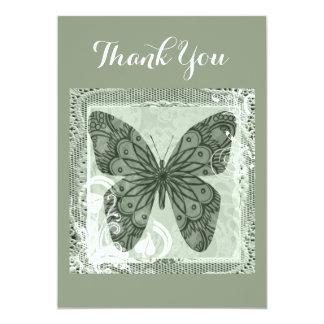 Cartões de agradecimentos elegantes da arte da