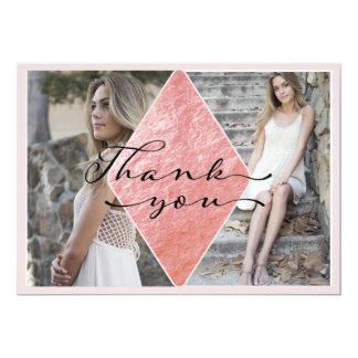 Cartões de agradecimentos elegantes da graduação