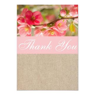Cartões de agradecimentos elegantes de convite 12.7 x 17.78cm