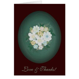 Cartões de agradecimentos elegantes do buquê