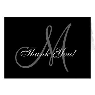 Cartões de agradecimentos elegantes do casamento cartão de nota