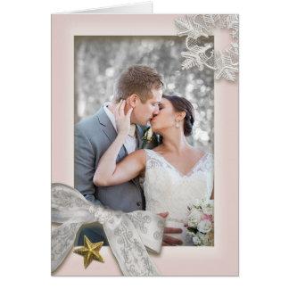Cartões de agradecimentos elegantes do casamento