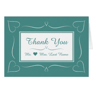 Cartões de agradecimentos elegantes do coração do
