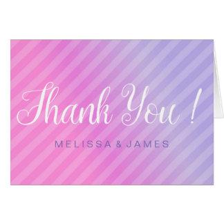 Cartões de agradecimentos elegantes do Lilac do