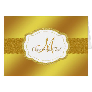 Cartões de agradecimentos elegantes do monograma d