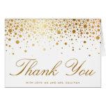 Cartões de agradecimentos elegantes dos confetes