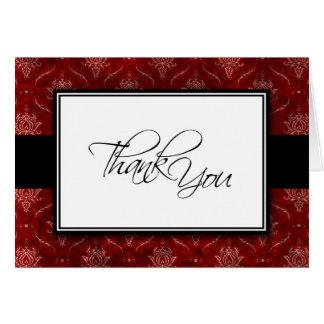 Cartões de agradecimentos elegantes esmagados do