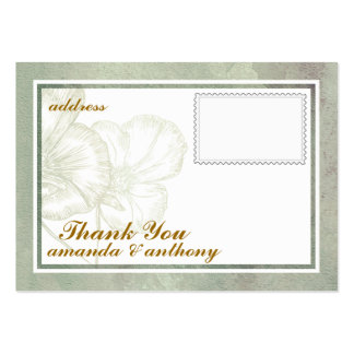 Cartões de agradecimentos elegantes simples cartão de visita grande