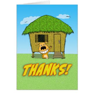 Cartões de agradecimentos engraçados com cão bonit
