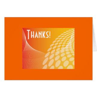 Cartões de agradecimentos ensolarados