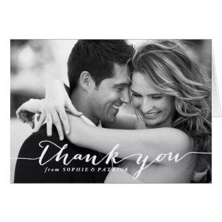 Cartões de agradecimentos escritos à mão brancos