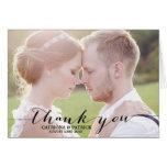 Cartões de agradecimentos escritos à mão pretos do