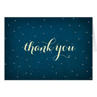 Cartões de agradecimentos estrelados do céu