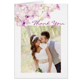Cartões de agradecimentos exóticos da foto da