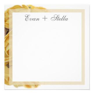 Cartões de agradecimentos extravagantes dos rosas  convite