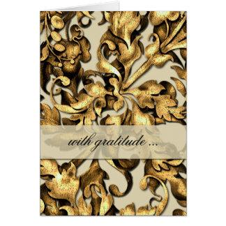 Cartões de agradecimentos fabulosos da folha