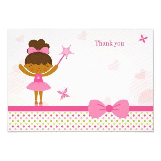 Cartões de agradecimentos feericamente do aniversá convite personalizado