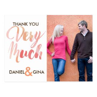 Cartões de agradecimentos feitos sob encomenda do cartão postal