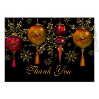 Cartões de agradecimentos festivos do Natal do
