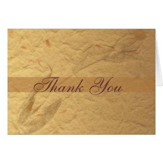 Cartões de agradecimentos florais bege