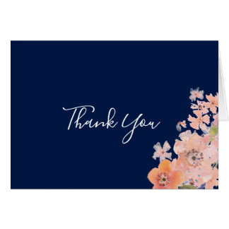 Cartões de agradecimentos florais da aguarela do