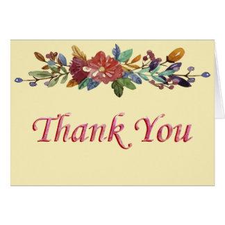 Cartões de agradecimentos florais da festão