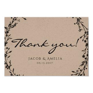 Cartões de agradecimentos florais da grinalda