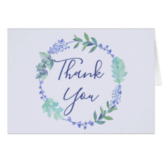 Cartões de agradecimentos florais da grinalda do