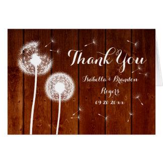 Cartões de agradecimentos florais & de madeira