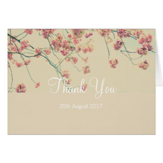Cartões de agradecimentos florais do casamento da