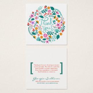 Cartões de agradecimentos florais do cliente