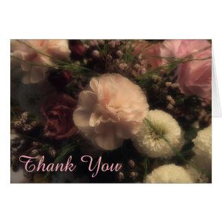 Cartões de agradecimentos florais do cravo