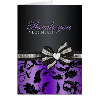 Cartões de agradecimentos florais do doce