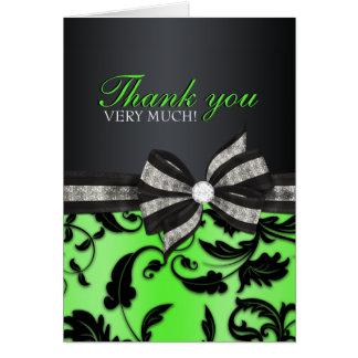 Cartões de agradecimentos florais do doce dezessei