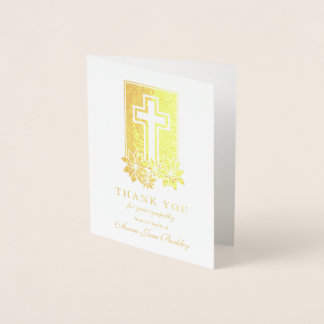 Cartões de agradecimentos florais do funeral da