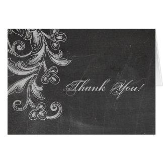 Cartões de agradecimentos florais do quadro