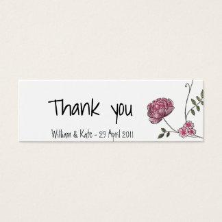 Cartões de agradecimentos florais para favores