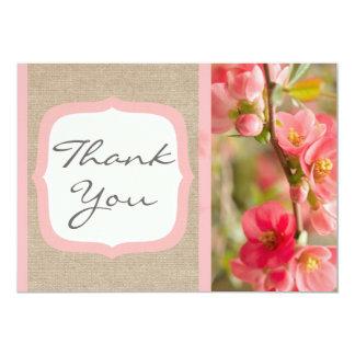 Cartões de agradecimentos formais de serapilheira convite 12.7 x 17.78cm