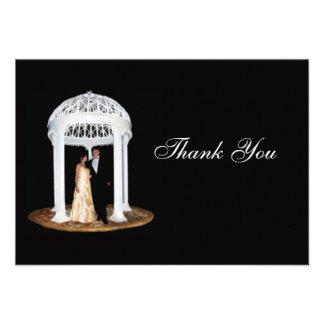 Cartões de agradecimentos formais do casamento convite