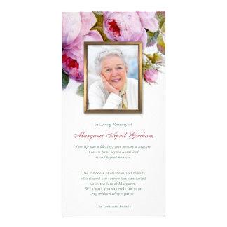 Cartões de agradecimentos fúnebres da foto dos