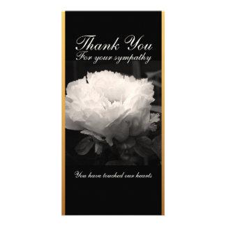 Cartões de agradecimentos fúnebres da simpatia da cartão com foto