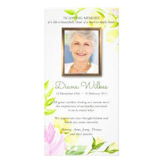 Cartões de agradecimentos fúnebres da simpatia dos