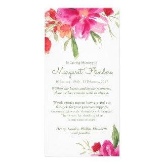 Cartões de agradecimentos fúnebres florais da